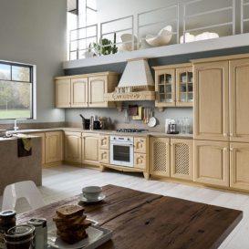 Cucina Classica su una parete 09