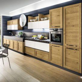Cucina Moderna su una parete 04