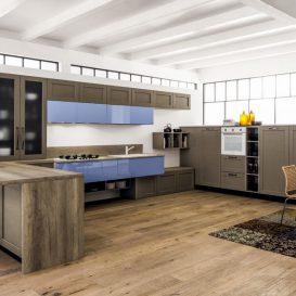 Cucina Moderna su una parete 05