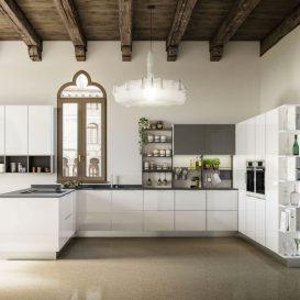Cucina Moderna su più pareti 07