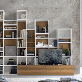 Soggiorno moderno con parete attrezzata 09